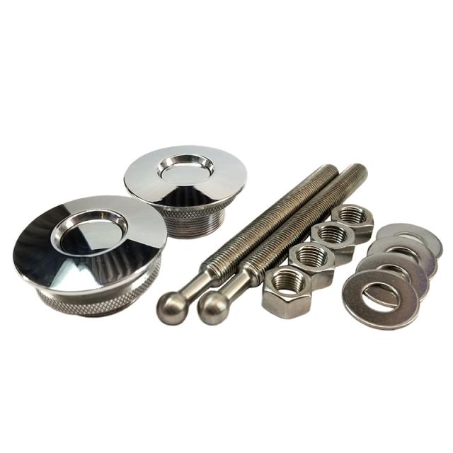 QL-38-LP Quik-Latch Hood Pin Kit Polished Aluminum