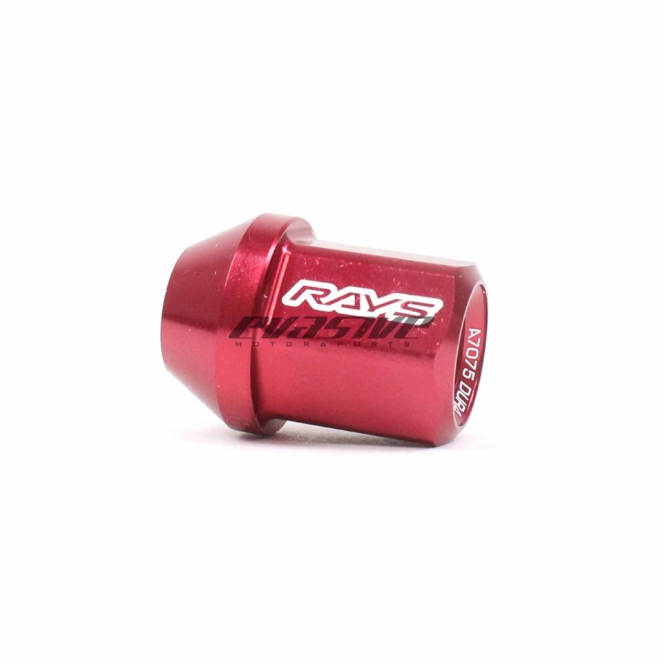 Rays L32 Dura-Nuts Straight Type Lug /& Lock Set Red 12x1.5