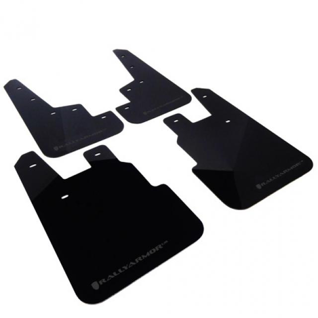 Rally Armor Universal Fitment UR Black Mud Flap w// Grey Logo MF12-UR-BLK//GRY