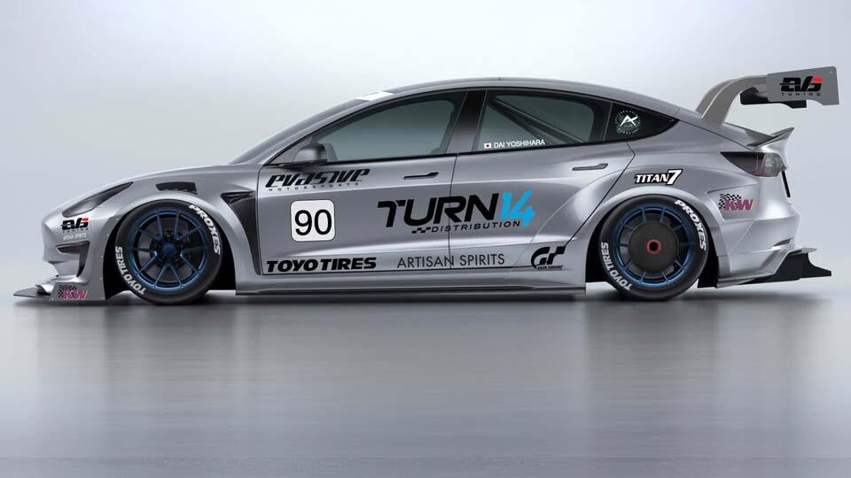 Evasive Motorsports Tesla Model 3